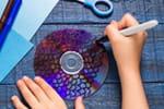 Fabriquer un poisson arc-en-ciel avec un vieux CD