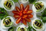 Recette printanière avec des olives et des oeufs
