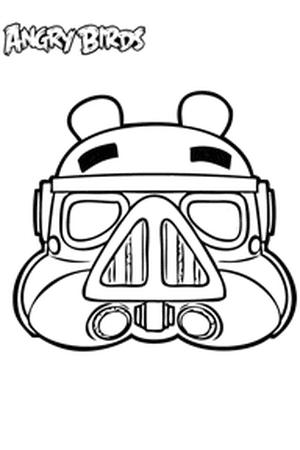 Masques des héros d'Angry Birds à colorier