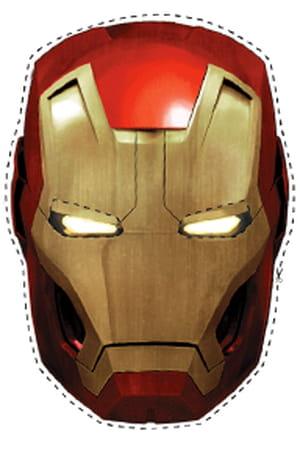 Masques d'Iron Man à découper