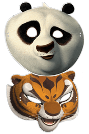 Masques des héros de Kung-Fu Panda à découper