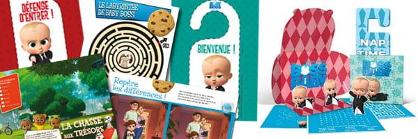 Concours et cahier d'activités pour la sortie du film Baby Boss